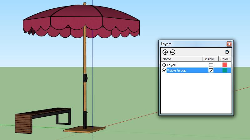 Layer visibility SketchUp