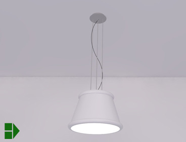 Suspended light fixture