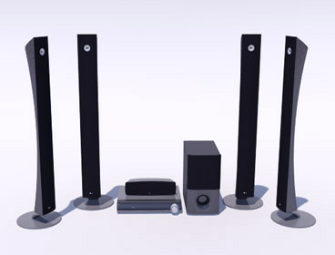 3D home theater system component