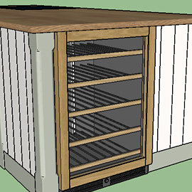SketchUp wine rack