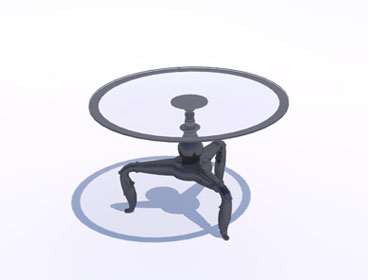 Glass table from Podium Browser