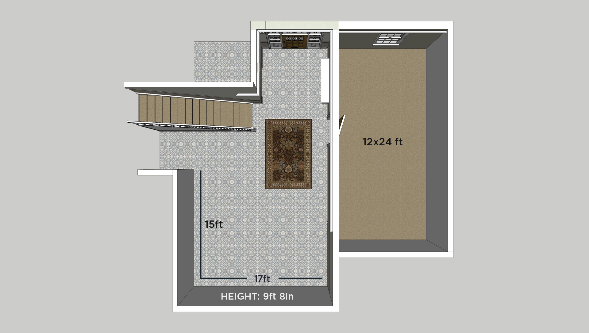SketchUp model scale and layout