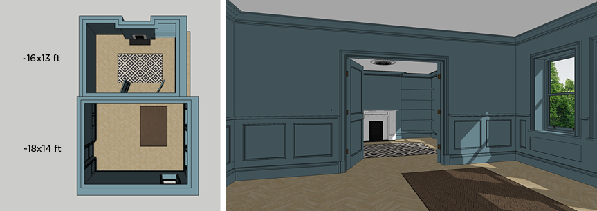 SketchUp scene scale and layout