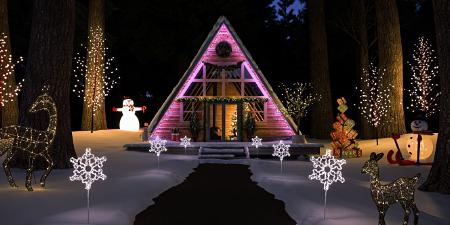 Snow cabin rendering with ProWalker GPU Iray