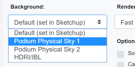 Physical sky options