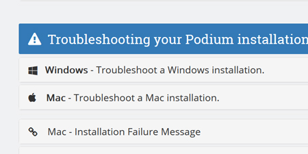 Podium troubleshooting thumbnail